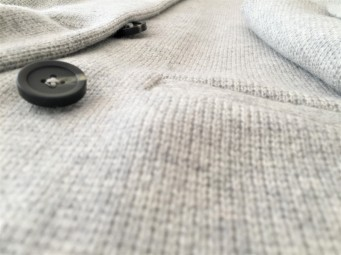 Pocket detail of the Blazer Sweater-Jacket by Madewell