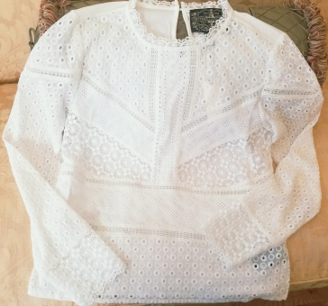 Burnham Lace Top by Anthropologie