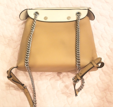 Fendi Faux Pearl Back to School Leather Backpack - back view