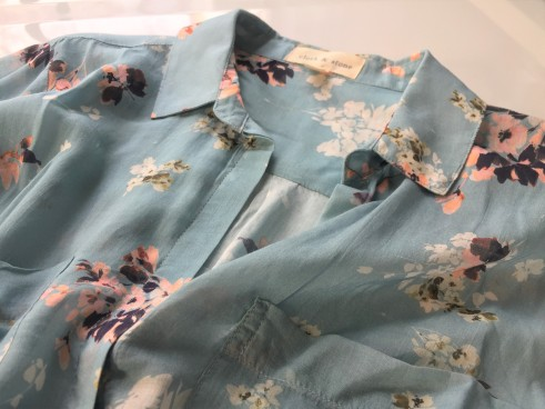 Sheer and delicate Cloth and Stone Tavira Buttondown by Anthropologie