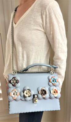 Fendi Floral Embellished Kan I handbag