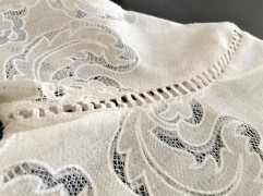Burnout lace and ladder stitch detailing of the Alice Lace Blouse by James Coviello ~ Anthropologie