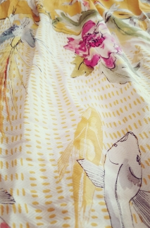 Anthropologie Paradiso Halter Dress - close up look at the prints