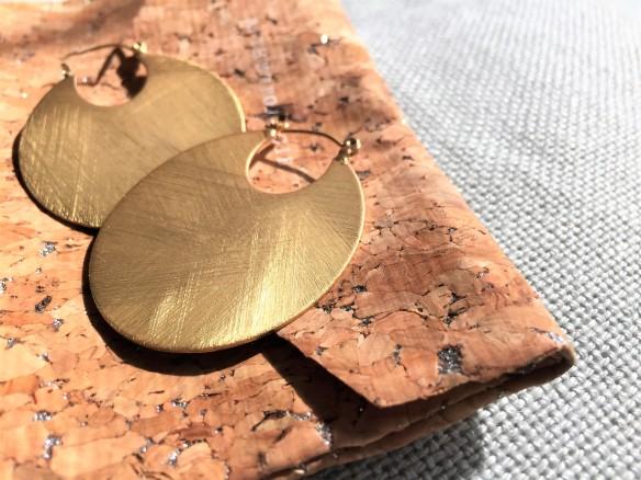Lovely, Plated Metal Cleo Hoop Earrings by Anthropologie