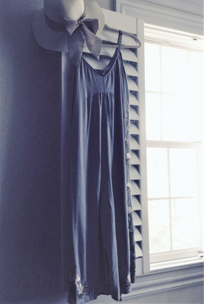Overall profile of Lily Emroidered Jumpsuit by Floreat from Anthropologie