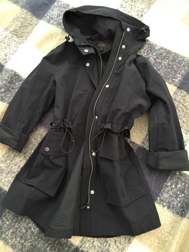 Perfect Rain Jacket in Navy by J.Crew Front Profile