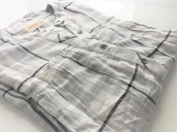 Grey Plaid Swing Tunic by Cloth & Stone, Anthropologie