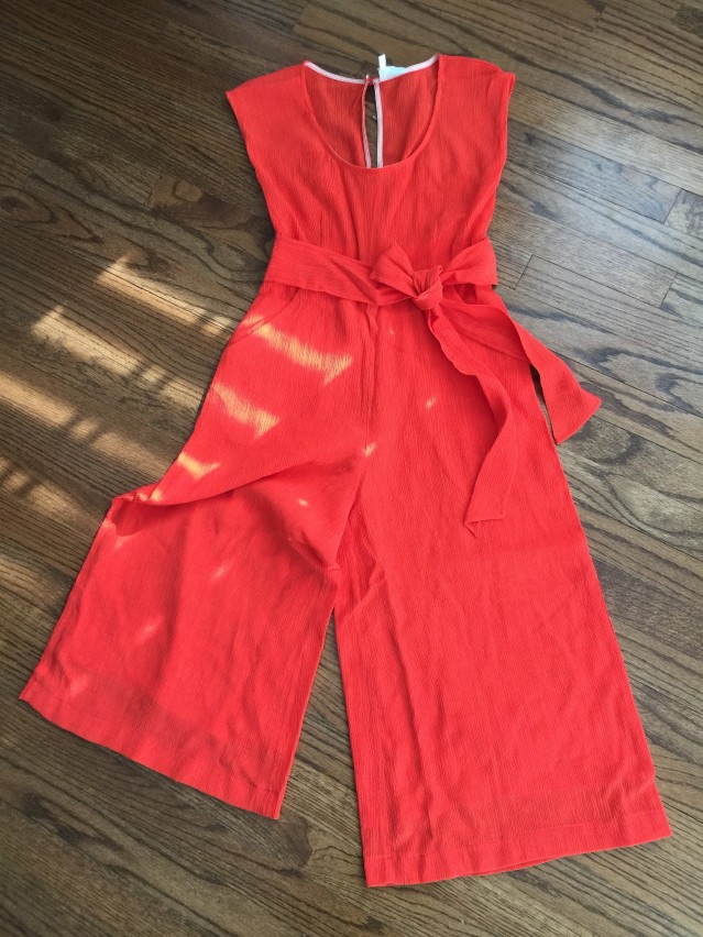 The Abbey Jumpsuit by Anthropologie Front Profile