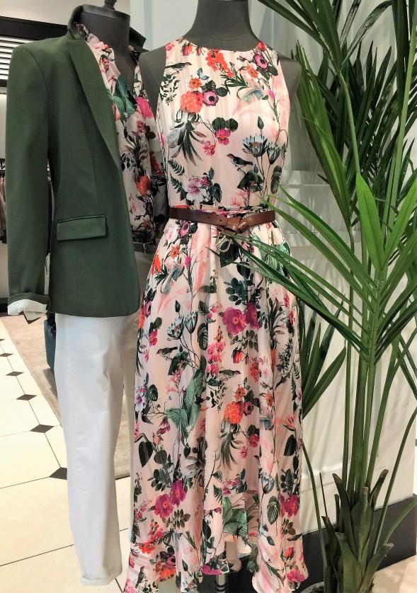 Botanical Print Fit-and-Flare Maxi Dress by Banana Republic