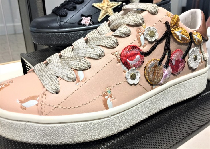 Coach Lace-Up Sneaker - C101 with Cherry Patches