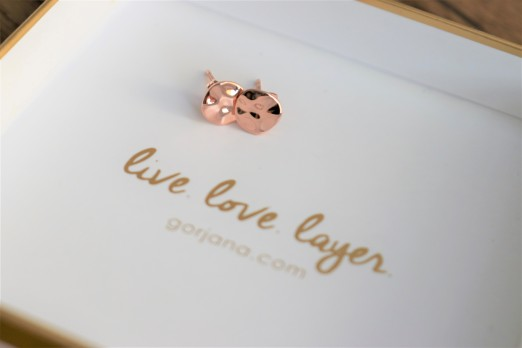 Gorjana Chloe Small Studs in Rose Gold