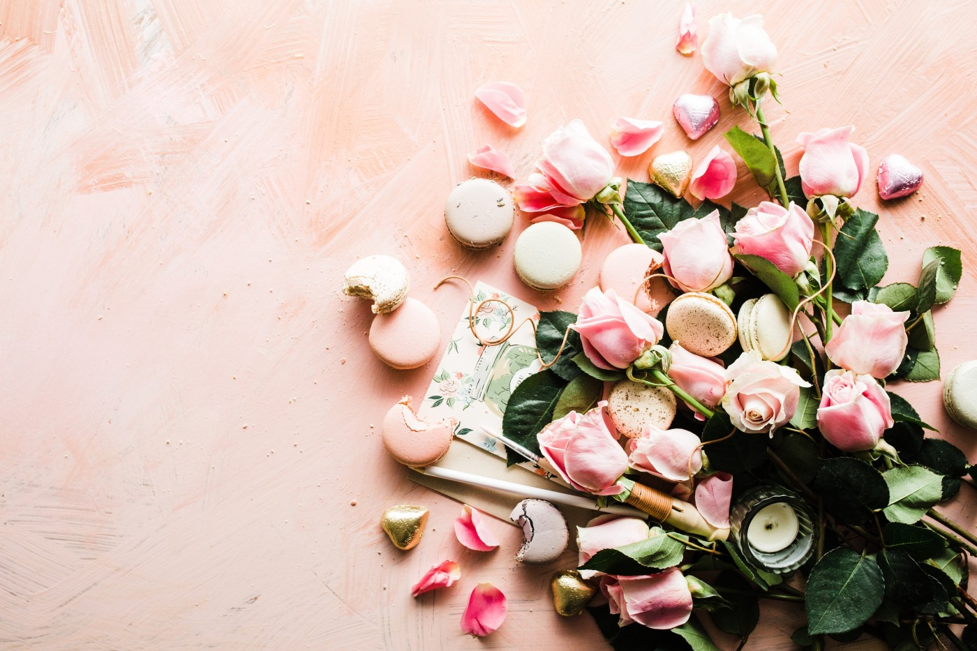 Roses and Macarons Photo by Brooke Lark on Unsplash